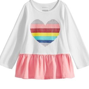 First Impressions Baby Girls Rainbow Heart Tunic